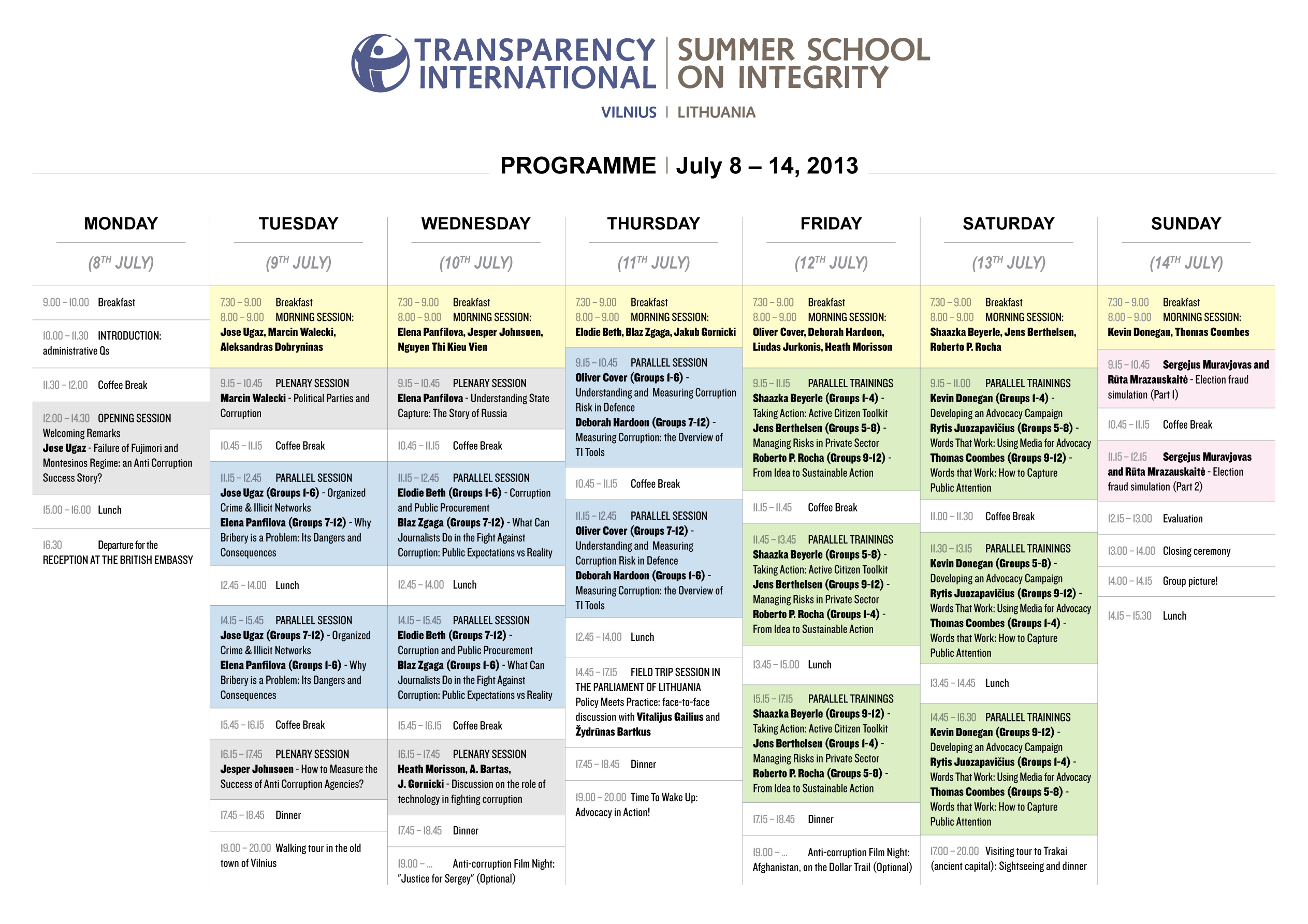 Programme - Transparency International   School on Integrity
